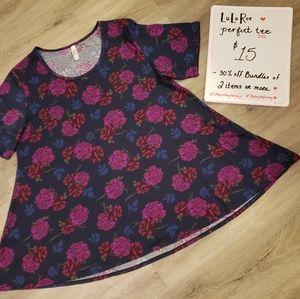 LuLaRoe Floral Perfect Tee